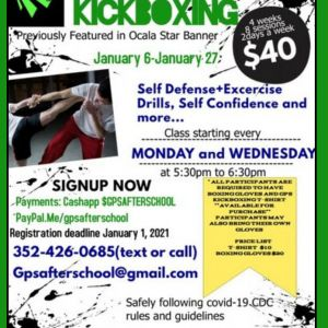 Silver Spring Shores Youth Center Kickboxing