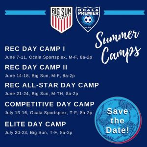 Soccer Camps at Big Sun Youth Soccer League