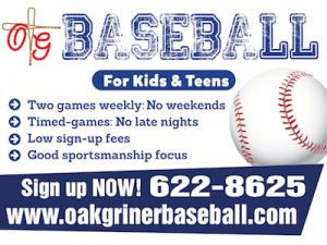 Oak-Griner Youth Baseball