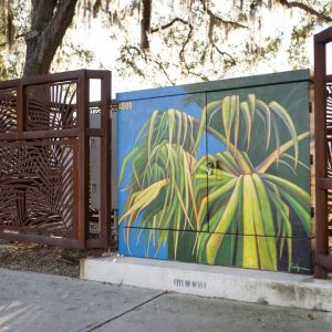 Transformer Mural and Fencing